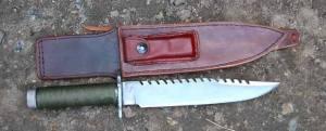 couteau rambo, lame forgée, étui original