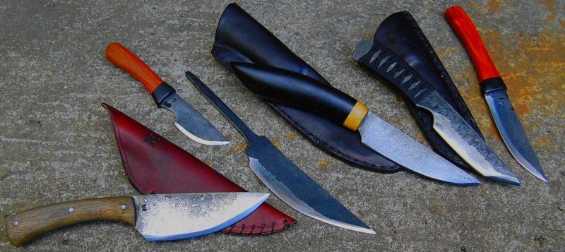 couteaux des stagiaires