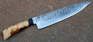 Couteau de cuisinier ho cho lame de 2035 cm forgée en damas suminagashi