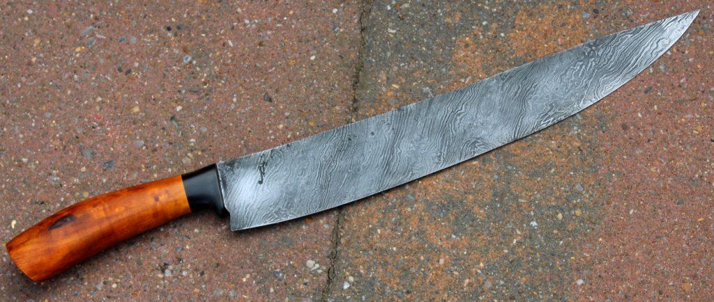 Couteau de cuisine type sabatier , lame de 30
