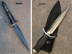 Dague,guerre mondiale, dague historique,dague forgée