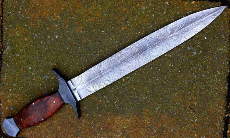 Dague glaive de chasse damas feuille