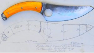 skinner, couteau forgé